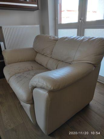 Dwuosobowa kanapa-sofa skórzana firmy Natuzzi
