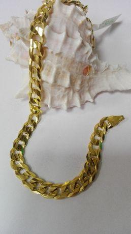 Złota męska bransoleta- pancerka, próba 585