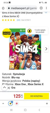 Gra Sims4 xbox one
