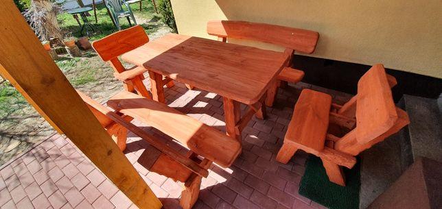 Meble ogrodowe 8 osobowe lite drewno