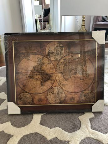 Obraz postarzany mapa świata