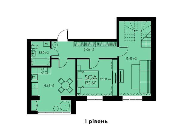 5-ти комнатная двухуровневая квартира в новом доме в Крюковщине