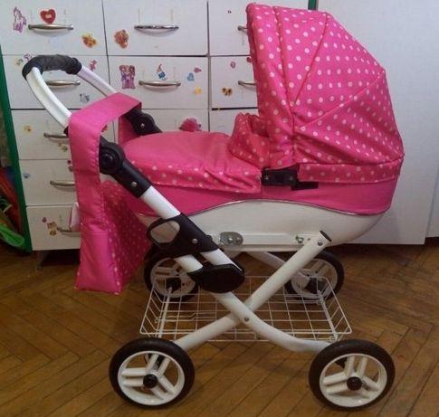 Большая игрушечная коляска для кукол и пупсов - Lily, Польша