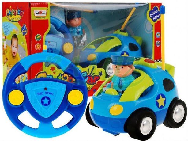 Zabawne Autko + Kierowca + PILOT R/C DŹWIĘK + ŚWIATŁO (6601)