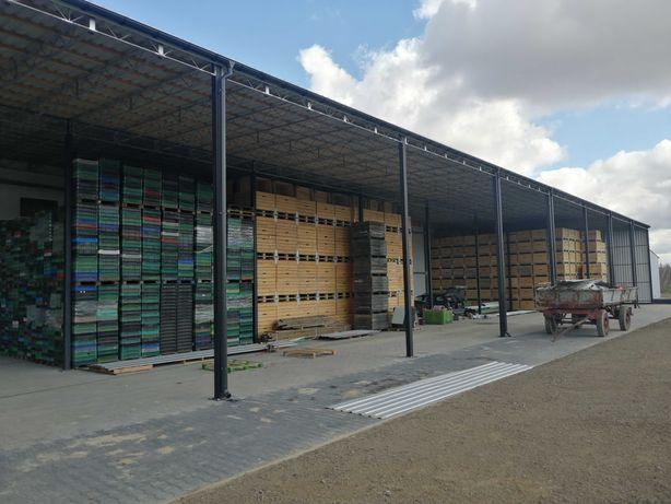 Konstrukcja Stalowa 6x18 m - Wiata Magazyn Garaż Hala - Nowa i Solidna