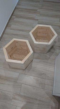 Donice ogrodowe drewniane / Doniczki drewniane