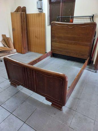 łóżko art deco do renowacji