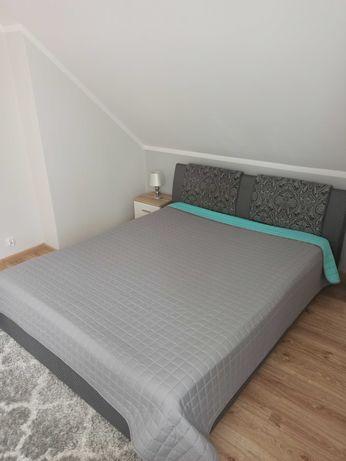 łóżko sypialniane 160x200 ze stelażem i pojemnikiem na pościel