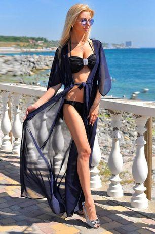 пляжна тунiка пляжная туника парео накидка на купальник шифоновый хала