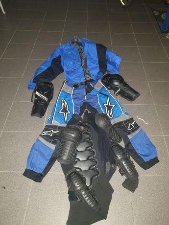 Equipamento Enduro cross motociclismo alpinestar   casaco mota calças