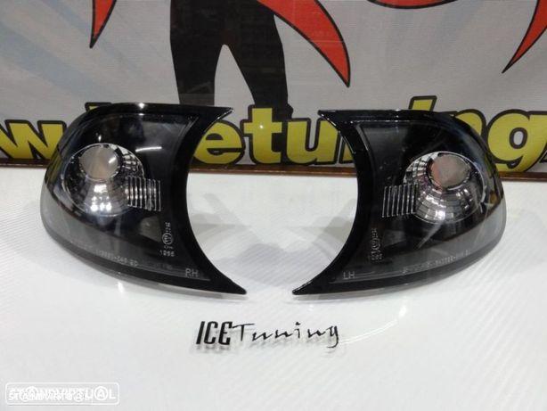Pisca frontal bmw e46 2p coupe / cabrio 98-01 fundo preto c/2 anos de garantia