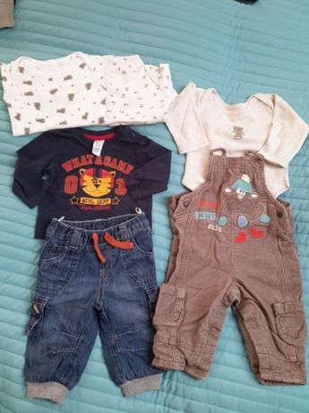 Komplet zestaw ubrań chłopiec 68cm c&a M&S early days