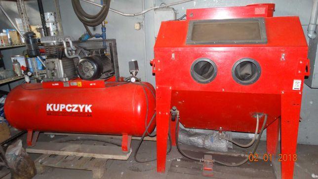 Piaskarka + kompresor Kupczyk