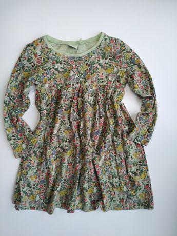 Next bawełnianą sukienka kwiatuszki 98cm