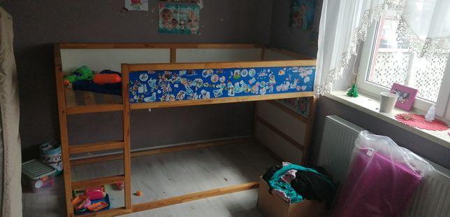 Łóżko piętrowe IKEA Kura z baldachimem