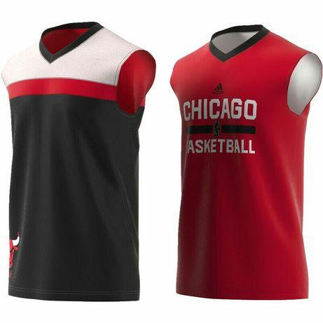 Баскетбольная двухсторонняя майка Adidas Chicago Bulls jordan
