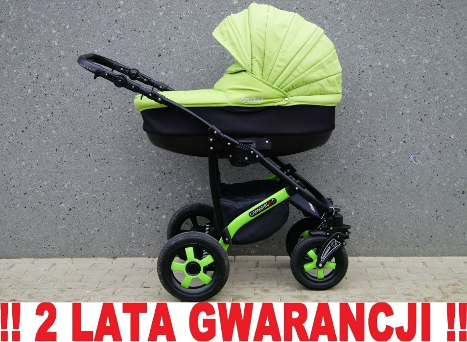 Piękny wózek CAMARELO SEVILLA 3w1 - piękna zieleń ! Wysyłka w 24h !!! Elbląg - image 1