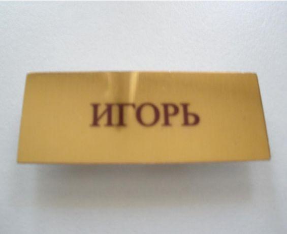 Бейдж ИГОРЬ значок badge