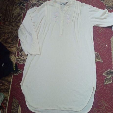 Ночнушка теплая ночная рубашка пижама на зиму 48 50 52