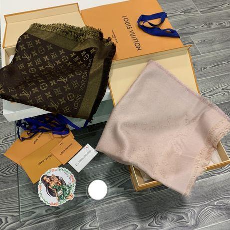 Шарф шаль Louis Vuitton lv шёлк