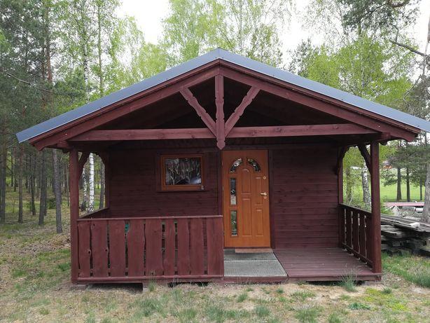 Domek z drewna całoroczny.