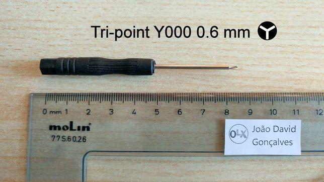 Chave ferramenta parafuso tri point tri wing 0.6 mm reparação iPhone