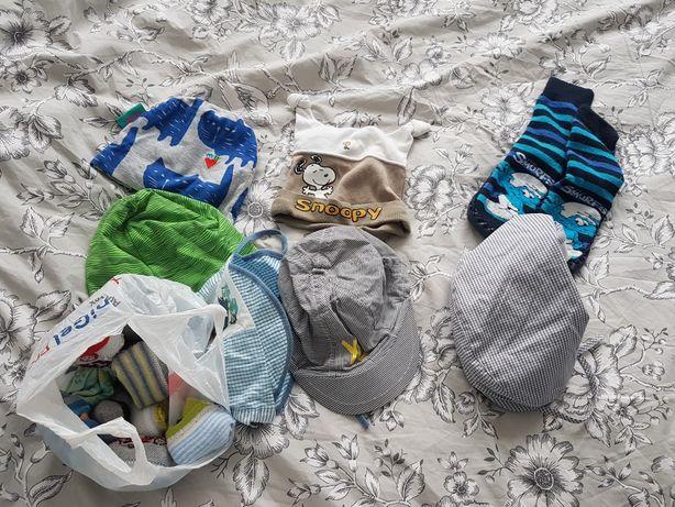 Czapki skarpetki dla niemowląt