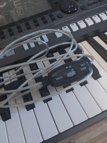 Kabel MIDI USB z interfejsem NOWY