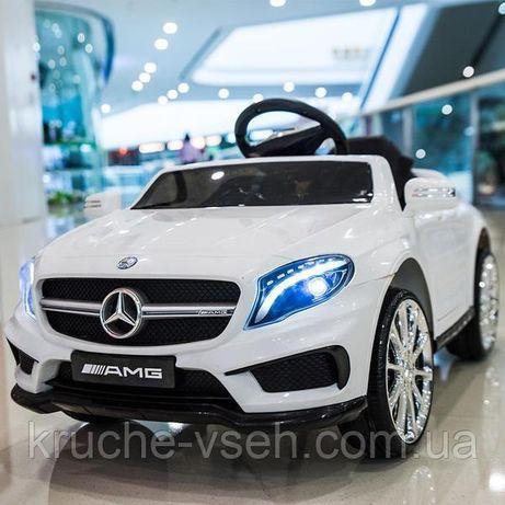 Детский электромобиль M 3995, Mercedes GLA 45, кожаное сиденье, EVA