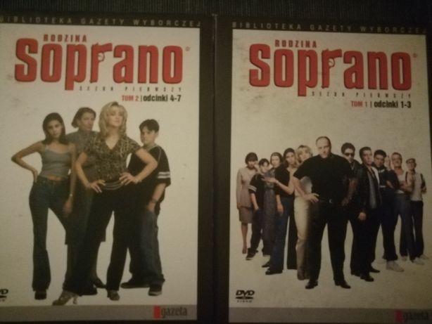 Filmy DVD. Kolekcja filmów DVD. Rodzina soprano. Filmy cd.