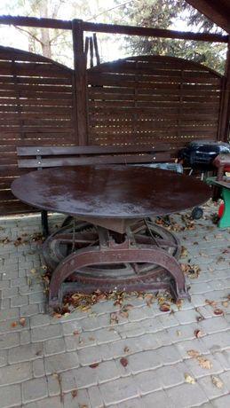 Stary kierat stół obrotowy do ogrodu dekoracja ogrodowa