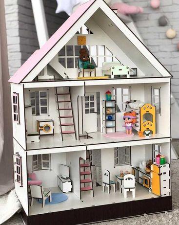 современный кукольный домик набор домик мебель домик лол свет 3д пазл