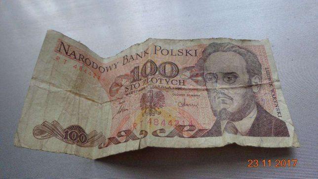 Banknot 100zł. z czasów PRL