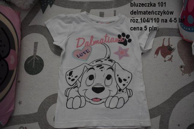 Bluzeczka 101 Dalmatyńczyków roz. 4-5 lata