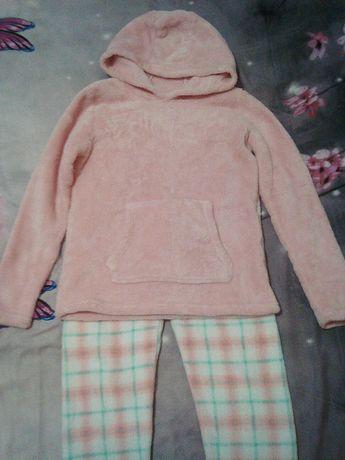 Детская пушистая пижама. Домашний костюм.