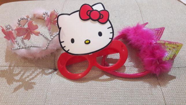 Карона на новый год обруч очки Hallo Kitty