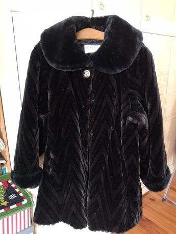 Futro sztuczne, płaszcz rozmiar XL