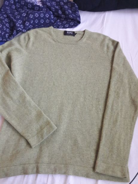 Sweter zielony groszek kaszmir