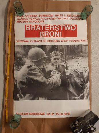 Plakat Braterstwo Broni 60 Rocznica Armii Radzieckiej 78 PRL ZSRR 1978