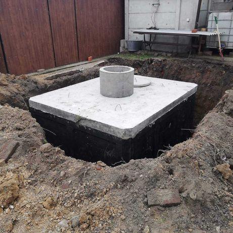 Zbiornik Betonowe Szambo 11m3-ścieki Kompleksowo z wykopem piwniczki