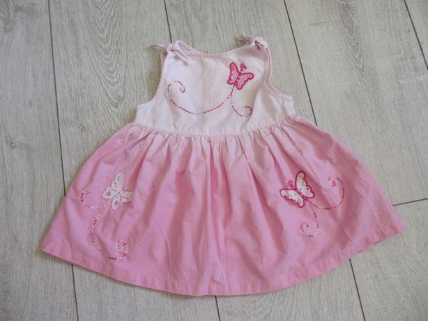 Sukienka bawełniana rozm. 68 (3-6 miesięcy) Debenhams