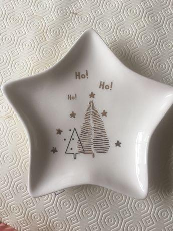 Prato estrela Natal