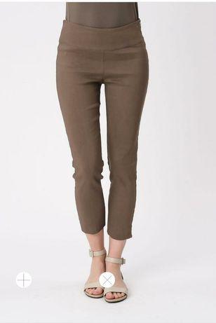 Льняные укороченные брюки с пропиткой Sarah pacini