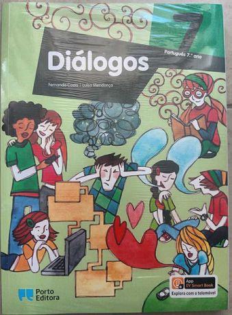 Manual Escolar de Português 7º Ano Letivo - Diálogos - Porto Editora