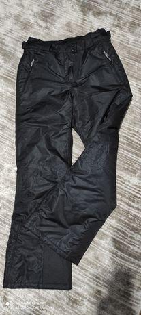 Spodnie zimowe damskie narciarskie snowboardowe 38 czarne