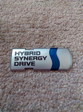 Znaczek Emblemat Toyota Hybrid
