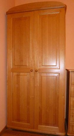 Szafa ubraniowa, Szafa ubraniowa 2 – drzwiowa. Drzwi olcha, ozdobna.