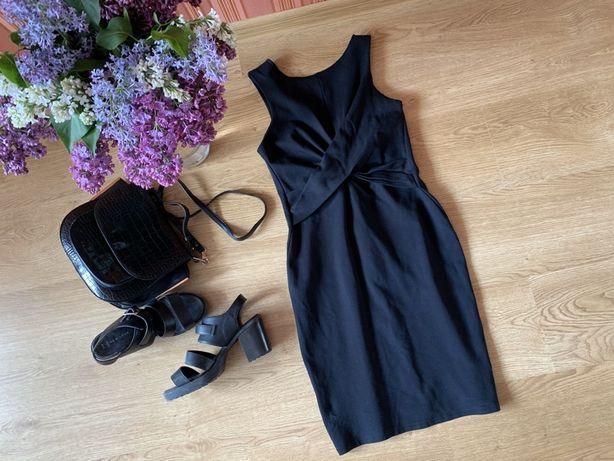 Чёрное платье миди футляр Topshop