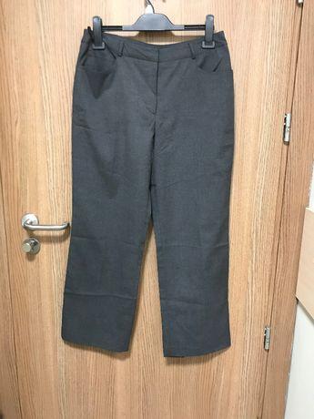 Szare wizytowe spodnie w kantkę r.42 CASUAL CLUB Plus size