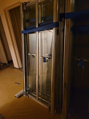 Drzwi prysznicowe składane, regulowane firmy KOŁO (84-90 cm)
